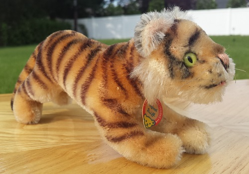 Vintage Steiff Original Running Tiger Face