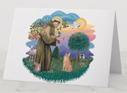 St Francis Greeting Cards by Cat Art Gifts